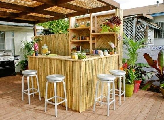bambus möbel für den außenbereich