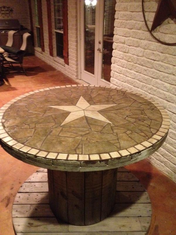 esstisch rund aus holz mit diy tischplatte deko