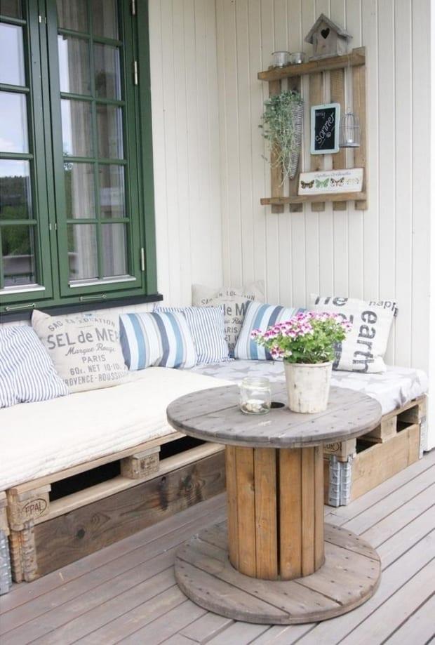 rustikale terrasse einrichten