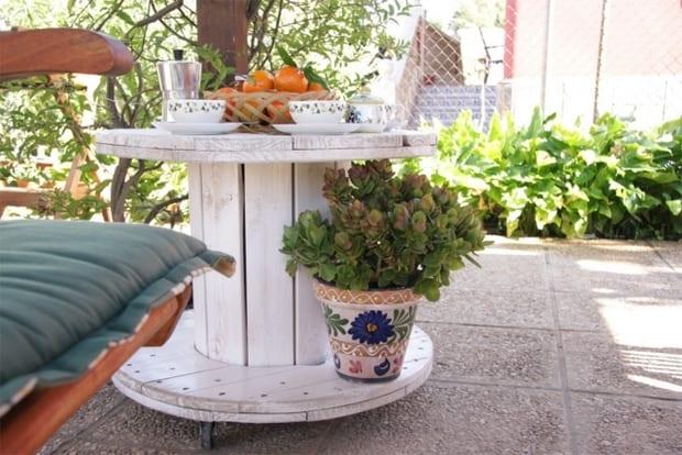 terrasse gestalteln mit DIY garten- und terrassenmöbeö aus paletten