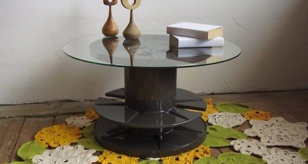 diy kabelrolle tisch f r kreatives interieuer design. Black Bedroom Furniture Sets. Home Design Ideas