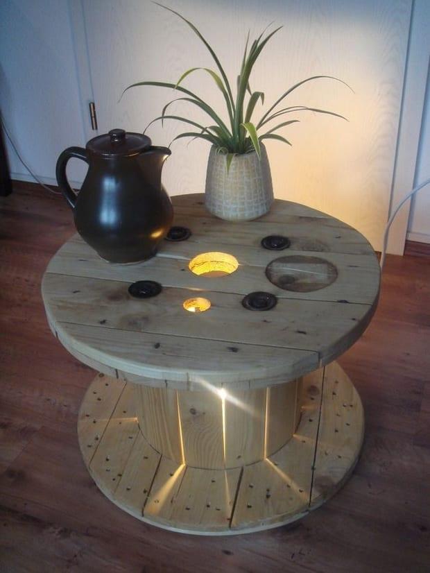 coole bastelidee für DIY Möbel aus kabelrollen