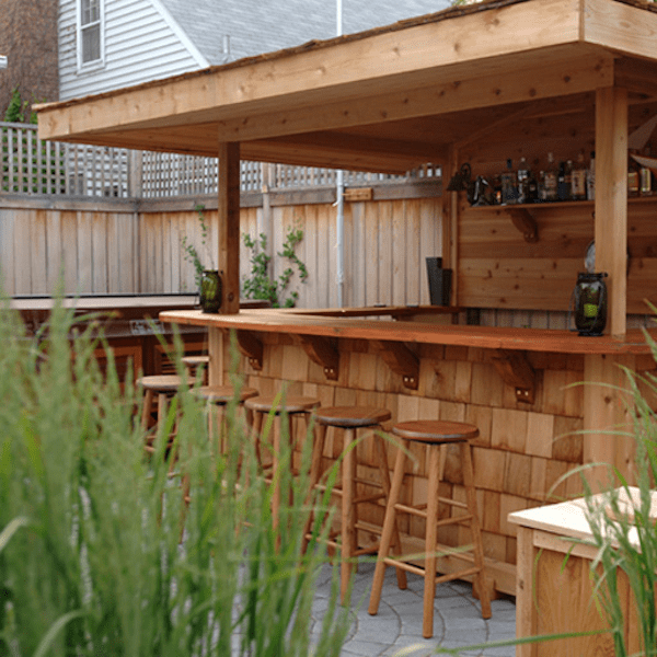how to build an outside bar