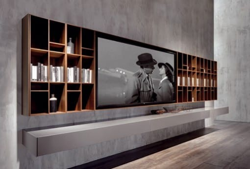 tv wandpaneel und wohnwand von massimo castagna via acerbis freshouse. Black Bedroom Furniture Sets. Home Design Ideas