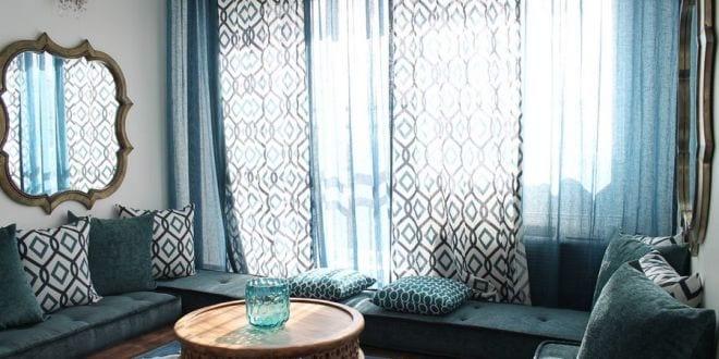 blaue bodenkissen f r moderne marrokanische raumgestaltung. Black Bedroom Furniture Sets. Home Design Ideas