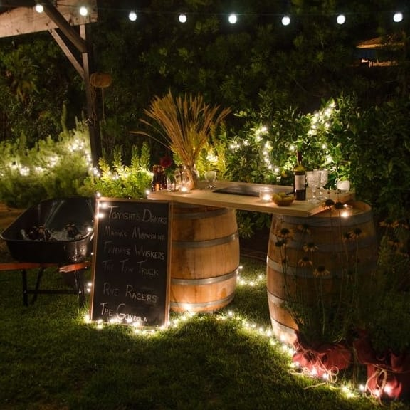 garten sommerparty deko idee mit DIY Gartenmöbeln