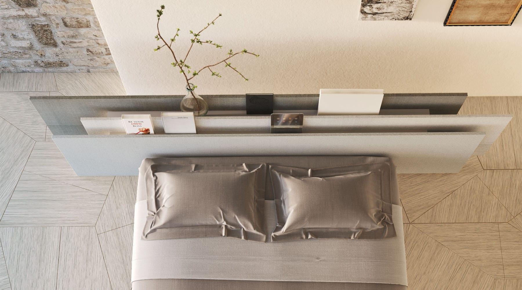 moderne schlafzimmer konzepte mit holzbodenbelag und coole Bett deko idee