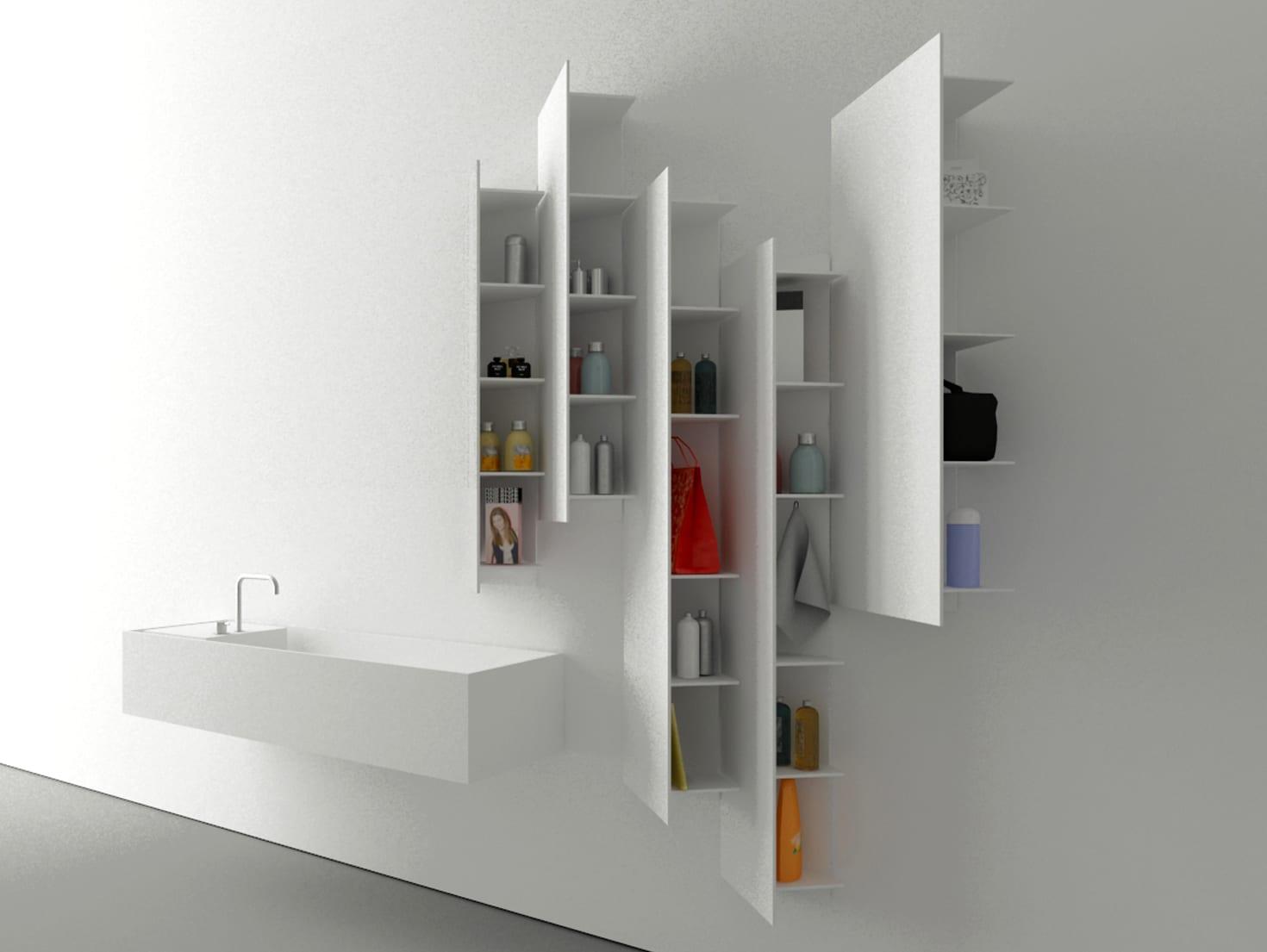 moderne badezimmer möbel in weiß für minimalistische badezimmer