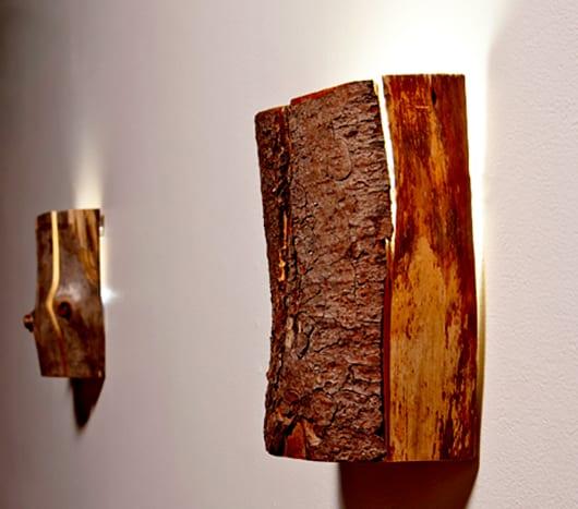 moderne Desiner-Wandlampen aus Holz für interessante Lichtgestaltung und Wanddeko