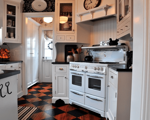 interessante streochen idee für küche und boden aus holz