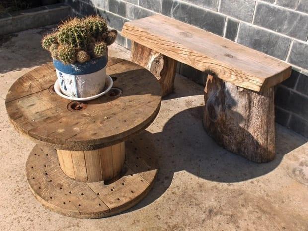 DIY Gartenbank und Beisteltisch aus holz für elegante garteneinrichtung