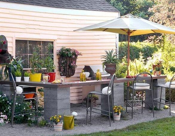 schöne garten idee mit DIY Gartenmöbel