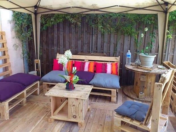 möbel aus paletten selber bauen für die terrasse
