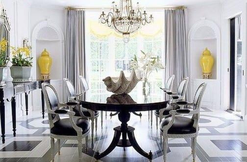 holzboden in schwarz-weiß streichen für luxus wohnzimmer ...