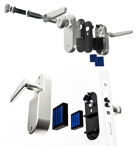 intelligente türgriffe mit fingerabdruck sensor und Hochfrequenztechnik