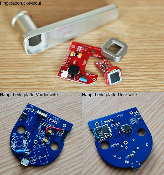 moderne Türgriffe für sicheren Zugang durch Fingerabdruck Sensor
