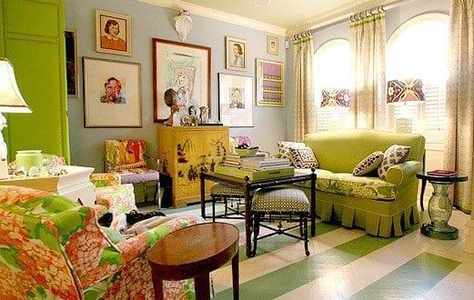 interior design in grün und streichen Ideen für Wohnzimmer mit ...