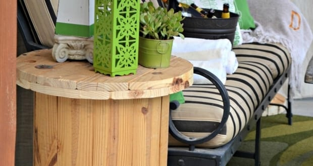 kabelrolle rundtisch als idee f r diy terrassenm bel aus holz freshouse. Black Bedroom Furniture Sets. Home Design Ideas