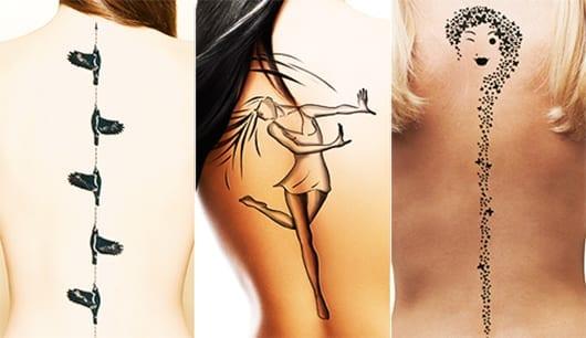 frauen wirbelsäule tattoo ideen
