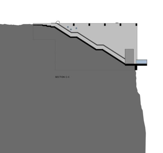 vertikaler schnitt durch betontreppe_casa brutale