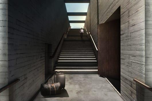 tense architecture network haus am hang gelände skizze