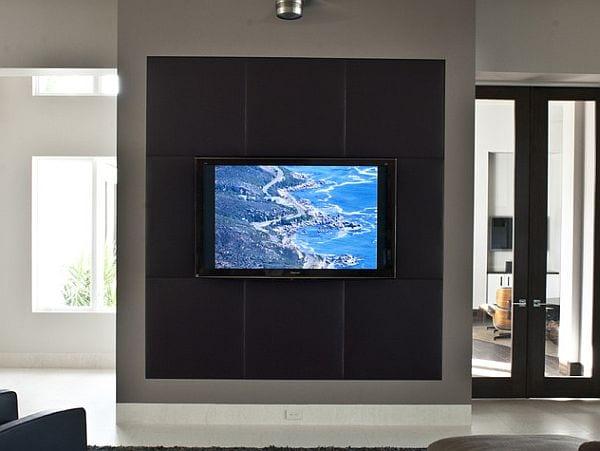 wandgestaltung mit wandpaneelen für tv
