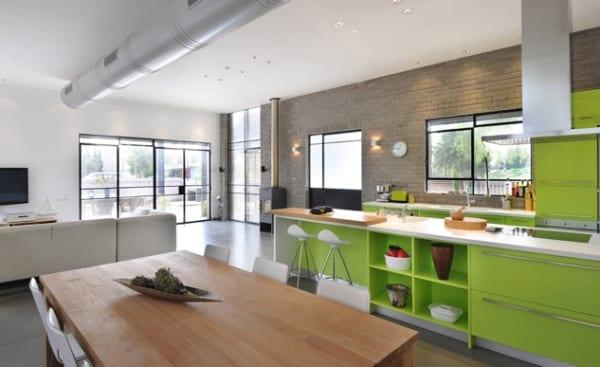 luxus küche design in weiß und grün als interessante küchenidee ...