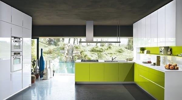 luxus küche weiß und grün von Snaidero - fresHouse