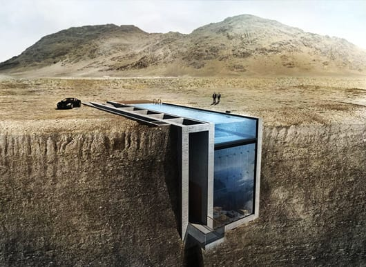 coole idee für bauen mit beton und für Luxus Residenz an der Küste mit Dachpool