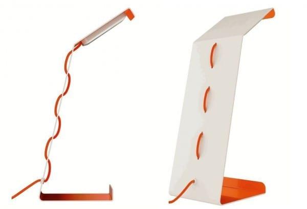 Osram LED Tischlampe in weiß und orange für moderne Einrichtung
