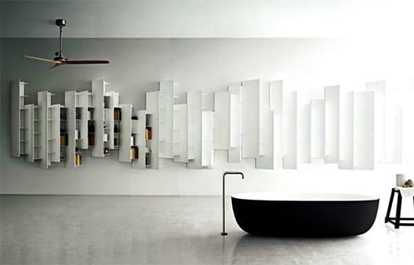 wandregale badezimmer für modernes badezimmer_ badezimmergestaltung mit freistehender badewanne schwarz