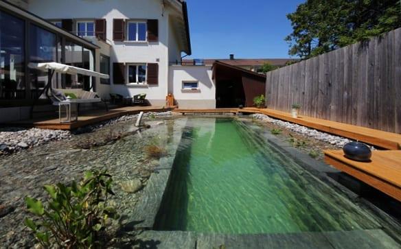 diy schwimmteich im hofgarten freshouse. Black Bedroom Furniture Sets. Home Design Ideas