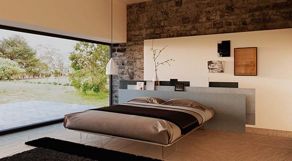 moderne-möbel-für-moderne-einrichtung-minimalistischer-schlafzimmer-mit-panoramafenster-und ...