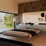 einrichtungsideen für minimalistische schlafzimmer mit modernen schlafzimmermöbeln und holzbodenbelag
