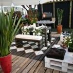 moderne terrasseneinrichtung mit DIY Terrassenmöbel aus paletten