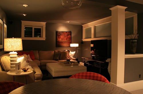 moderne wohnideen für kleine wohnzimmer im keller - fresHouse