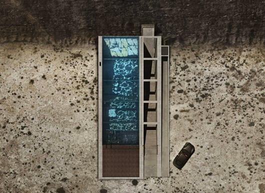 realistische draufsicht visualisierung der Luxus Residenz Casa Brutale