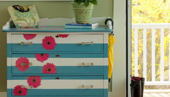 streifen streichen muster zum m bel streichen freshouse. Black Bedroom Furniture Sets. Home Design Ideas