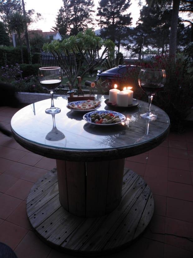 Gartentisch rund selber basteln