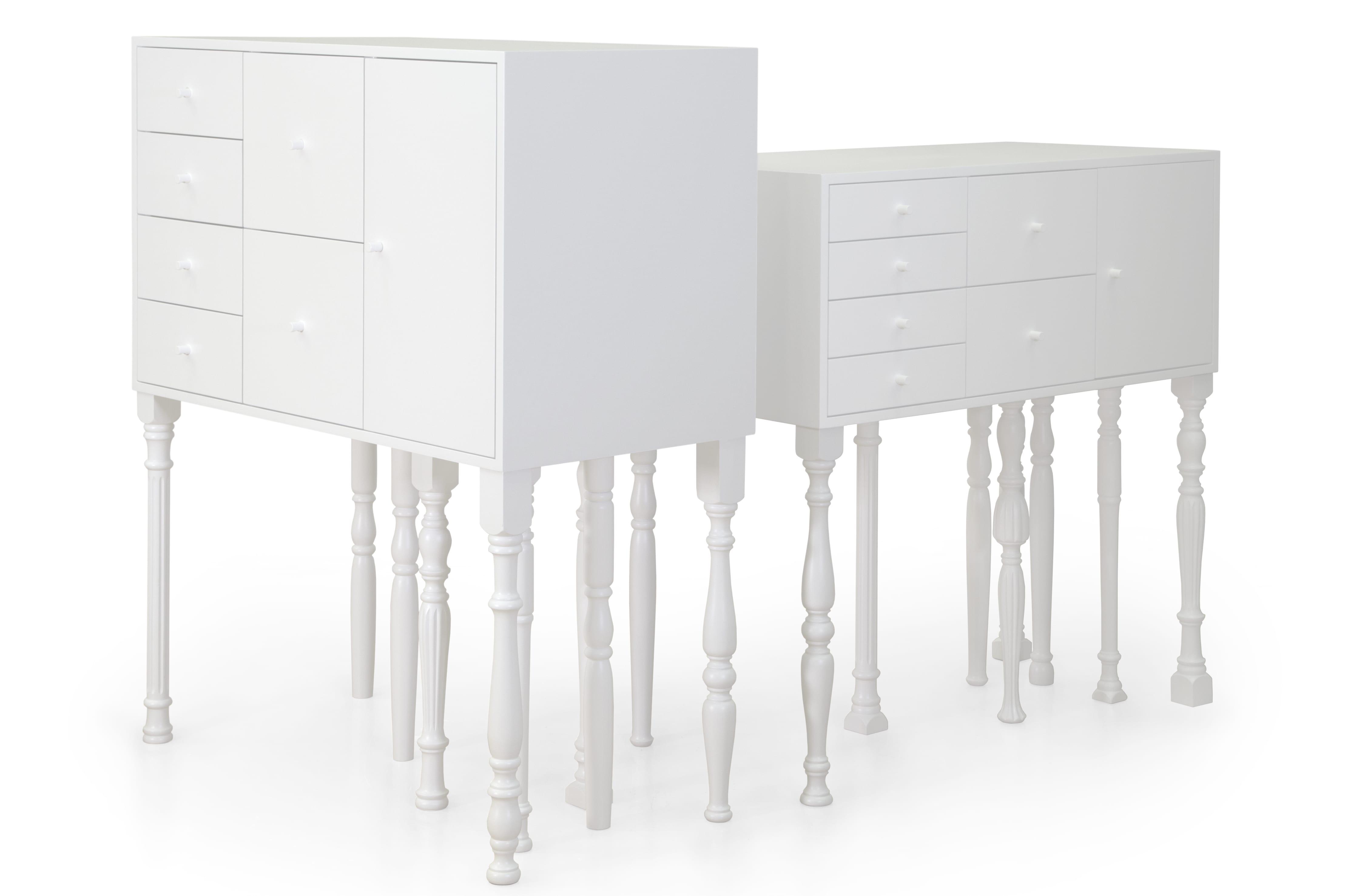 schicke sideboard aus Holz in weiß als moderne Einrichtungsidee
