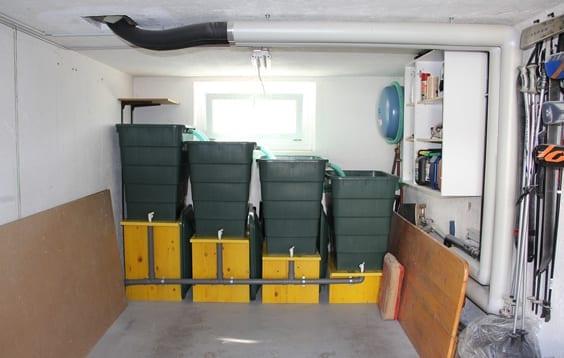 DIY Pool und DIY Teichbecken mit Filteranlage in der Garage