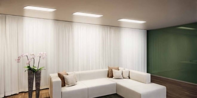 wohnzimmer beleuchtung mit led deckenleuchten von osram freshouse. Black Bedroom Furniture Sets. Home Design Ideas