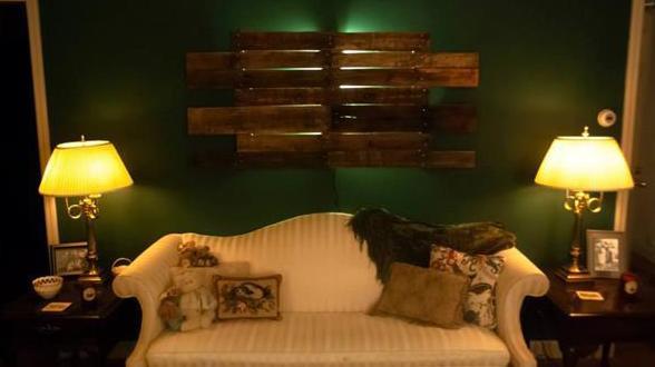 Diy wanddeko und diy wandlampe aus paletten freshouse - Wandlampe babyzimmer ...