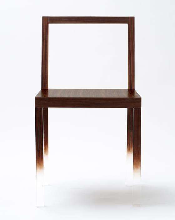 Essyimmerstuhl als moderner Holzstuhl mit Rückenlehne aus Holzrahmen