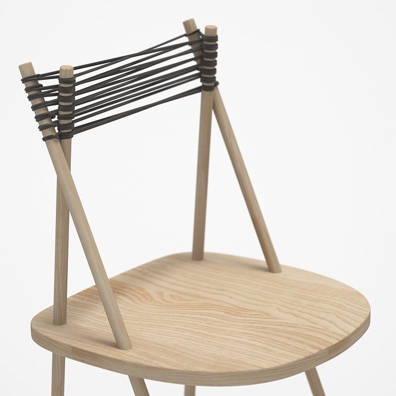 modernes holzstuhl-modell mit Holzsitz und Seil-Rückenlehne_PURIST Stuhl