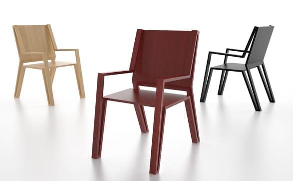 Rote Holzstuhle Für Kreative Farbgestaltung Und Einrichtung  Esszimmer_Holzstühle Der Serie OUTLINE