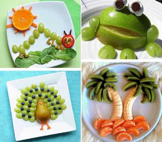kreative Kinder-Essen ideen und kreative DIY-Essen-dekoration für partys und geburtstage