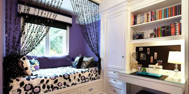 coole deko idee und farbgestaltung in lila und schwarz. Black Bedroom Furniture Sets. Home Design Ideas