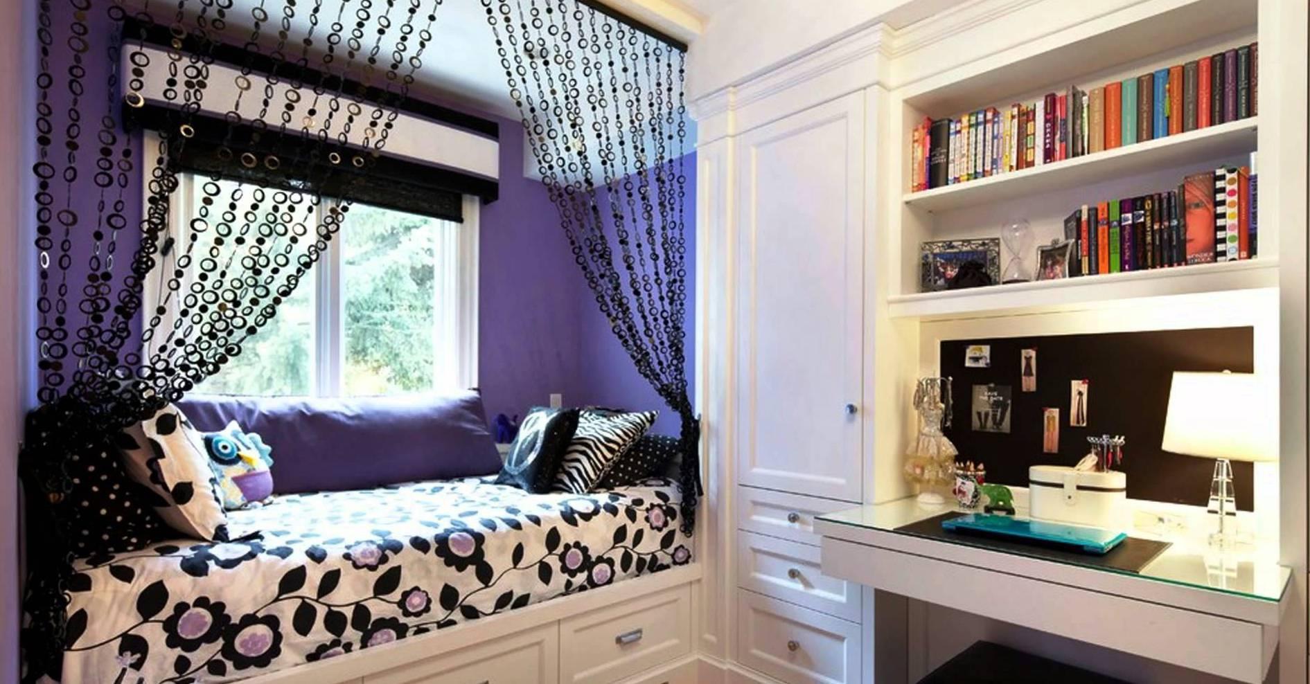 Coole Deko Idee Und Farbgestaltung In Lila Schwarz Frs Mdchen Schlafzimmer