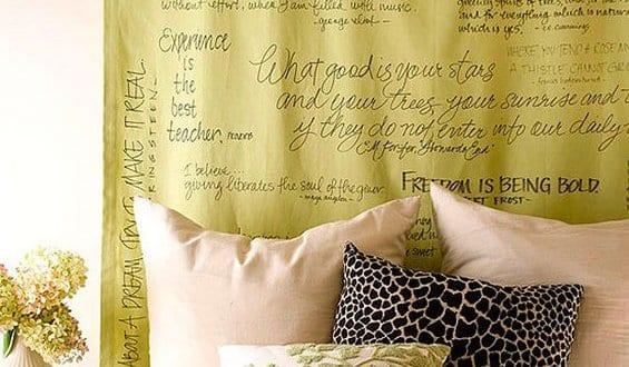Coole deko ideen schlafzimmer und farbgestaltung in gr n for Deko fa r nachttisch